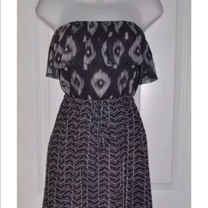c42ce05551f03 Anthropologie Dresses - Anthropology SWEET PEA size L Gray Geo Hi-Lo Dress